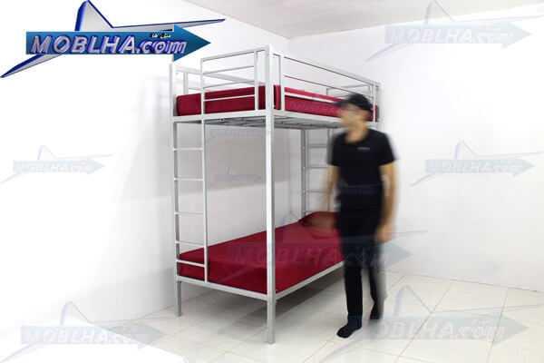 تخت خواب دو طبقه نقره ای